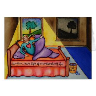 Despierte a la luz del uno mismo-amor incondiciona tarjetas