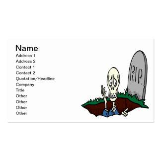 Despierte a los muertos tarjetas de visita