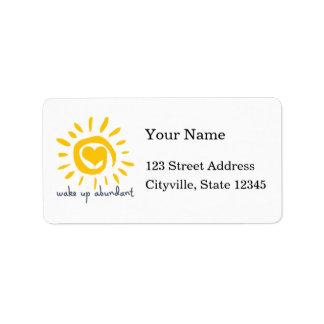 Despierte abundante etiqueta de dirección