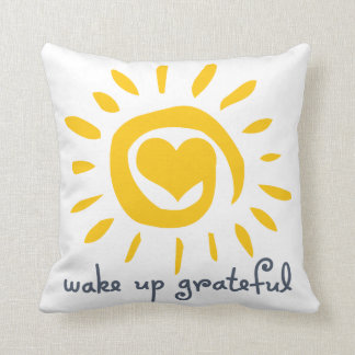 Despierte agradecido almohada