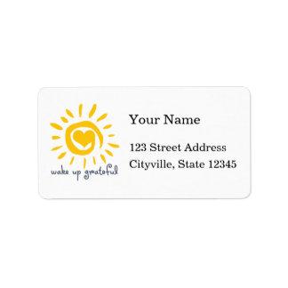 Despierte agradecido etiqueta de dirección