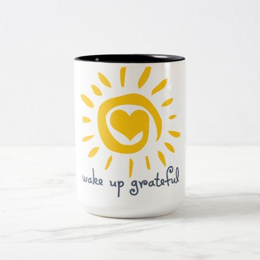 Despierte agradecido tazas de café
