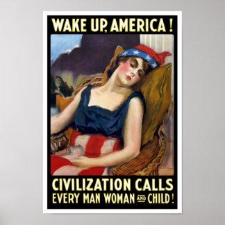 Despierte América - llamadas de la civilización - Póster