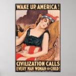 ¡Despierte América! Poster