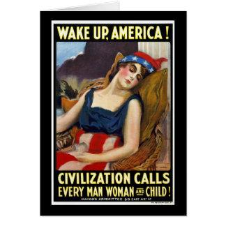 Despierte América Tarjeta De Felicitación