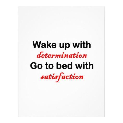 Despierte con la determinación membretes personalizados