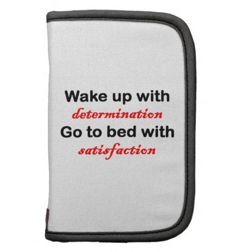 Despierte con la determinación planificadores