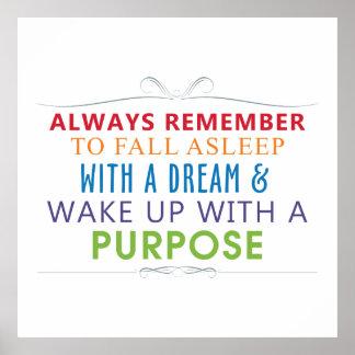 Despierte con un propósito póster