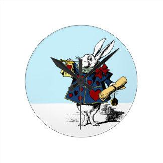 ¡Despierte! Conejo blanco - Alicia en tiempo del p Relojes De Pared
