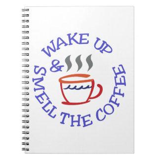 Despierte el café libro de apuntes