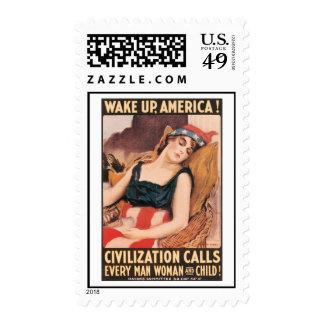 Despierte el franqueo de la guerra mundial de Amér