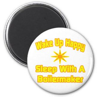 Despierte… el sueño feliz con el calderero imanes para frigoríficos