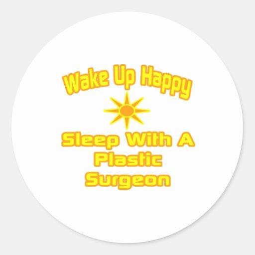 Despierte… el sueño feliz con el cirujano plástico pegatina redonda