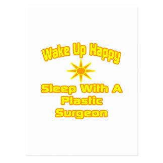 Despierte… el sueño feliz con el cirujano plástico tarjeta postal
