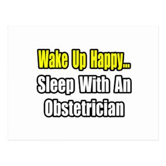 Despierte… el sueño feliz con un obstétrico postal