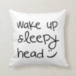 Despierte la cabeza soñolienta - almohada de tiro