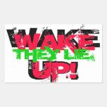 ¡Despierte!  Mienten. Pegatina
