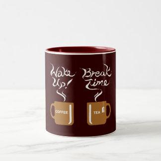 ¡Despierte! rompa el tiempo Taza De Café