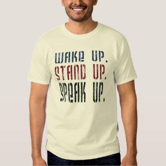 Despierte se colocan para arriba hablan encima de remeras