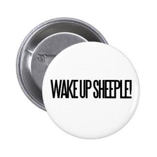 Despierte Sheeple Pin Redondo De 2 Pulgadas