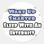 Despierte… un sueño más elegante con un interno pegatina redonda