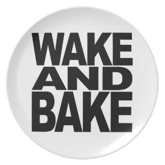 Despierte y cueza plato de cena