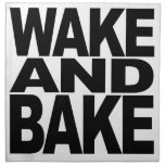 Despierte y cueza servilletas imprimidas