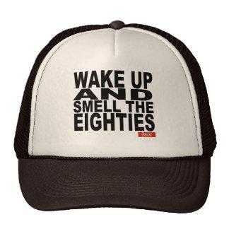Despierte y huela los años ochenta gorras