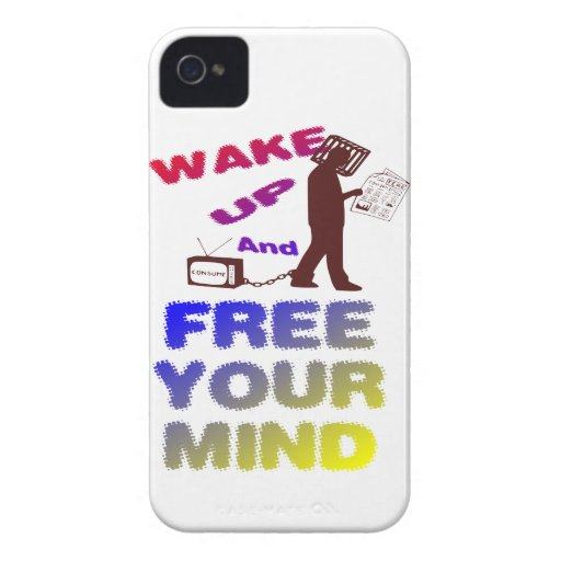 Despierte y libere su mente iPhone 4 cárcasas