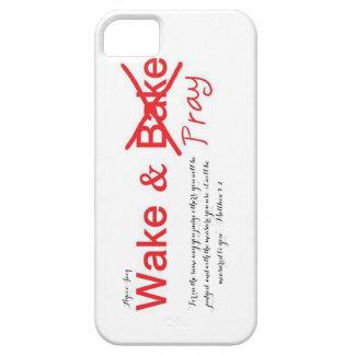 Despierte y ruegue el caso delgado del iPhone 5/5s iPhone 5 Fundas