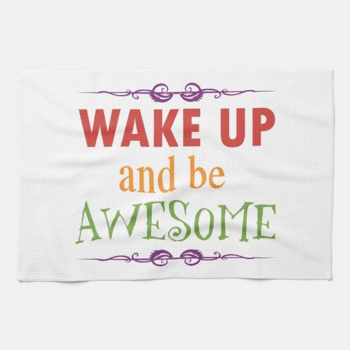 Despierte y sea impresionante toallas de cocina