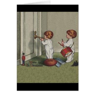 Despiértelo es navidad tarjeta de felicitación