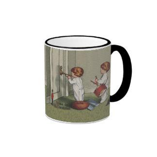 Despiértelo es navidad taza de café