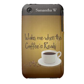 Despiérteme cuando el café listo Case-Mate iPhone 3 cárcasas