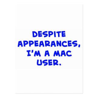 despite appearances, I'm a Mac user Postcard