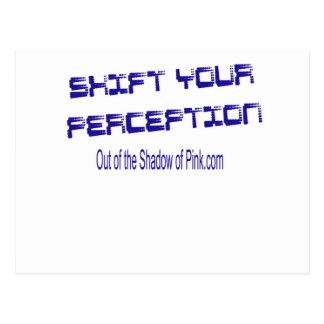 Desplace su opinión tarjeta postal