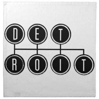 Desplazador de Detroit Servilleta