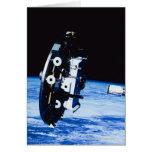 Despliegue de un satélite tarjeta de felicitación