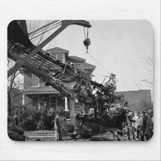Desplome de aeroplano 1938 tapete de raton