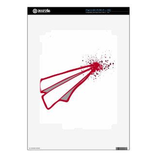 Desplome de aeroplano de papel romántico del calcomanía para el iPad 2