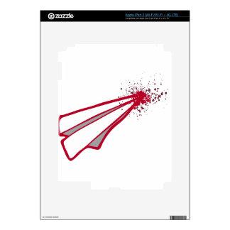 Desplome de aeroplano de papel romántico del pegatina skin para iPad 3