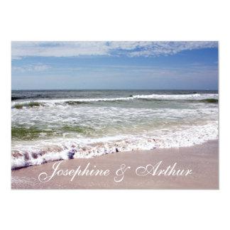"""Desplome de las ondas en la playa de Sandy Invitación 5"""" X 7"""""""