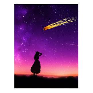 Desplome del meteorito de los relojes del chica de tarjeta postal