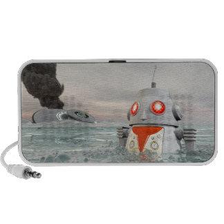 Desplome del robot en el Doodle del mar Mini Altavoces
