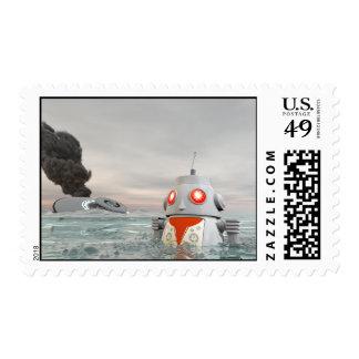 Desplome del robot en el franqueo del mar