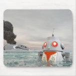 Desplome del robot en el mar Mousepad Tapete De Ratón