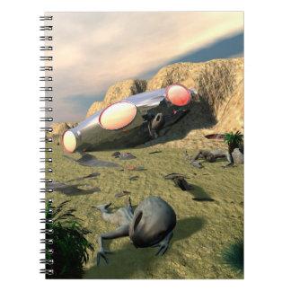 Desplome del UFO de Roswell Libros De Apuntes