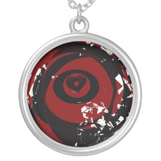 Desplome geométrico del corazón de la fantasía pendientes personalizados