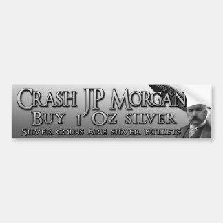 Desplome JP Morgan Etiqueta De Parachoque