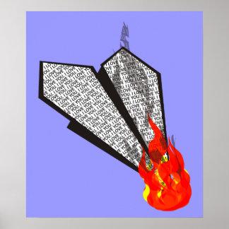 Desplome y quemadura póster